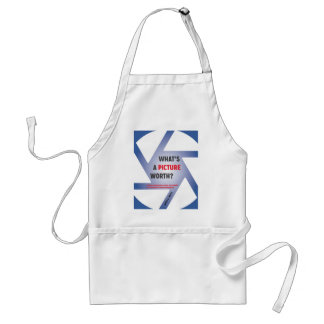 """What's a Picture Worth?"" Swag Adult Apron"