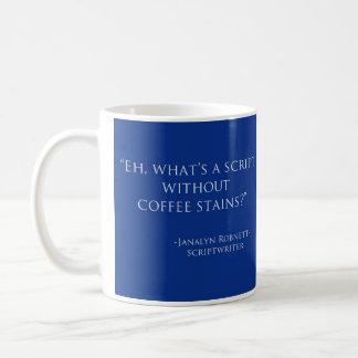 What's a script---coffee stains? Mug