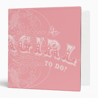 What's a Supergirl to Do Pink 3 Ring Binder