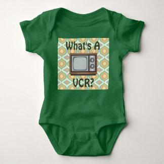 """What's a VCR?"" Retro TV Baby Bodysuit"