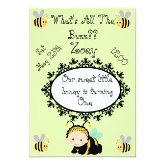 What's All The Buzz?? Birthday Invitation
