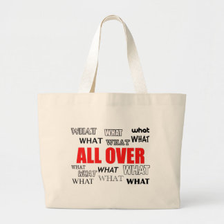 What's black and white and red all over? large tote bag