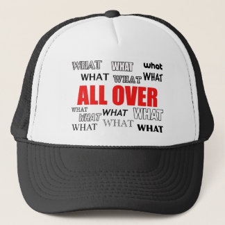 What's black and white and red all over? trucker hat