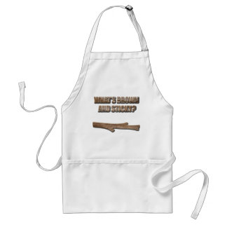 What's Brown and Sticky Joke Adult Apron