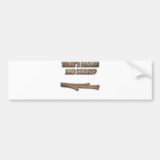 What's Brown and Sticky Joke Bumper Sticker