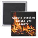 What's Burning Inside You Today? Refrigerator Magnets