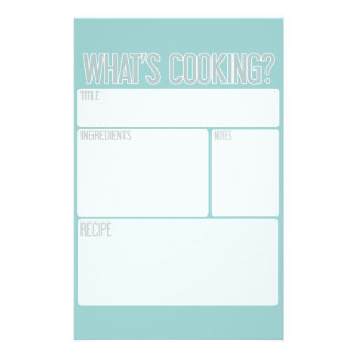 """""""What's Cooking"""" Recipe Sheets (Great Shower Gift) Flyer"""