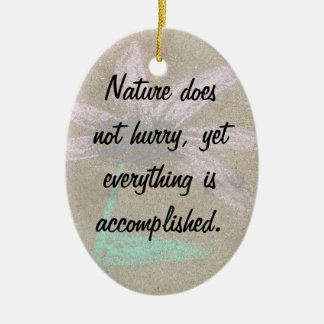 What's Done Is Done Double-Sided Oval Ceramic Christmas Ornament
