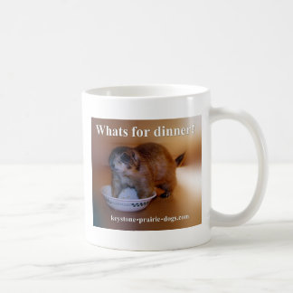What's for dinner apron coffee mug
