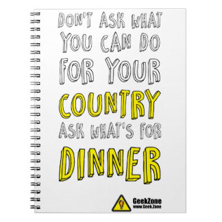 What's for Dinner? by GeekZone Spiral Notebook