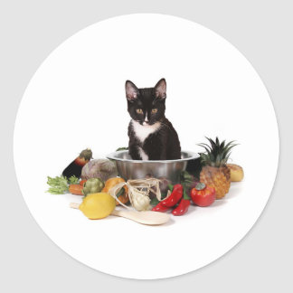What's for dinner? classic round sticker