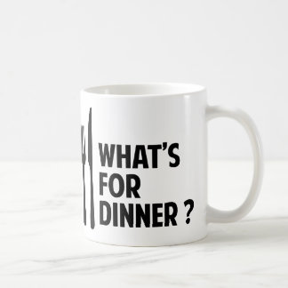 What's For Dinner Classic White Coffee Mug