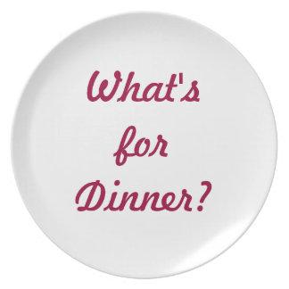 What's For Dinner? Melamine Plate
