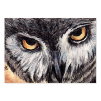 What's For Dinner? (Owl) ACEO Art Trading Cards Large Business Card