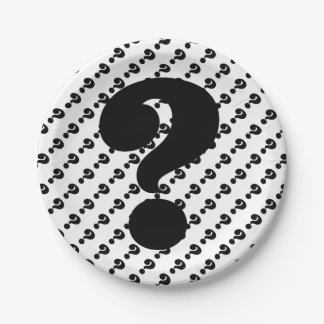 Whats For Dinner Question Mark Paper Plates