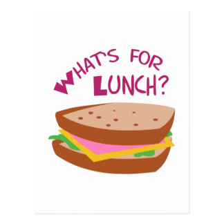 WHATS FOR LUNCH POSTCARD