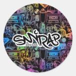 What's glowing on round sticker