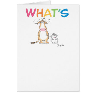 WHAT'S GNU WITH EWE? CARDS