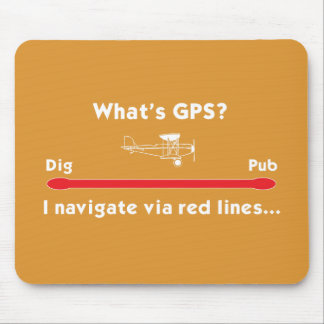 What's GPS? Mouse Mat Mouse Pad