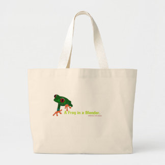 What's green and red and .... tote bag