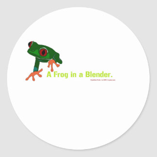 What's green and red and .... classic round sticker