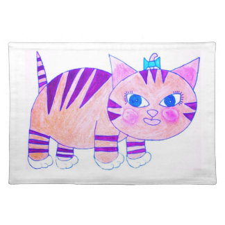 Whats her face cat cloth place mat