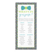 What's In Your Purse? Baby Shower Game, 25 Pack Rack Card
