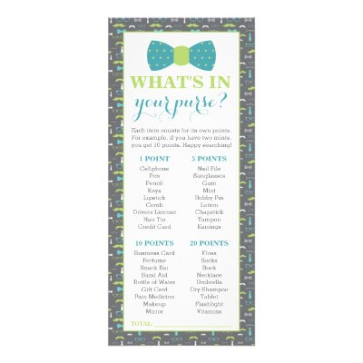 What S In Your Purse Baby Shower Game 25 Pack Rack Card Zazzle Com