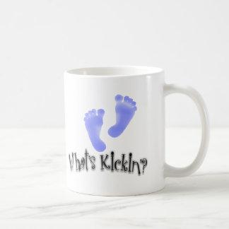 What's Kickin'? Baby Announcement Mug