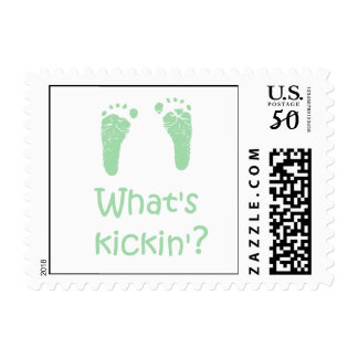 What's Kickin? Baby postage stamps
