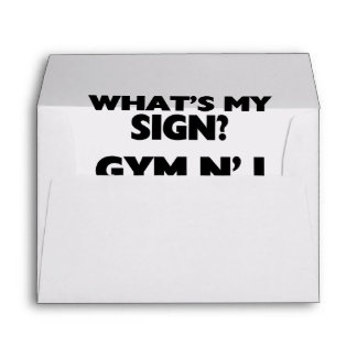 What's My Sign Gym N' I Envelopes