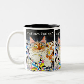 What's new Pucci-cat? Two-Tone Coffee Mug