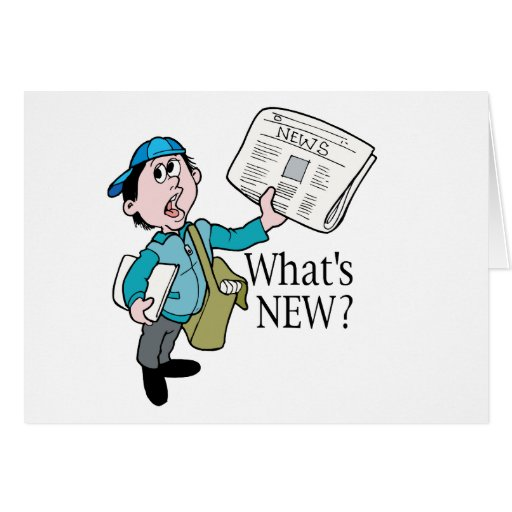 What's New? - Word Play Card