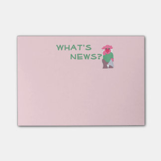 What's News? Pig on the Toilet Post-it Notes