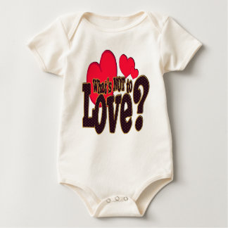 What's Not to love -  Infant Organic Creepe Baby Bodysuit