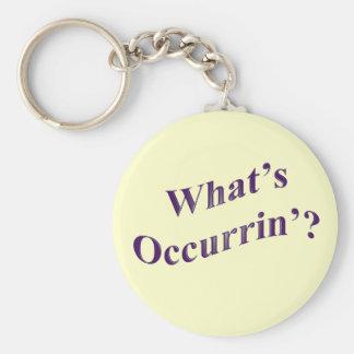 What's Occurrin'? Basic Round Button Keychain