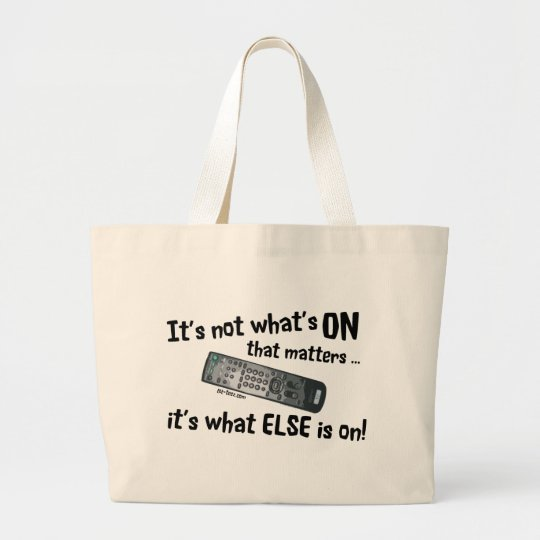 What's On Large Tote Bag