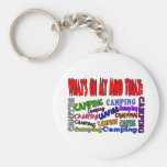 What's on my mind today......CAMPING Key Chain