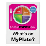 What's on MyPlate? Poster - Magenta on White