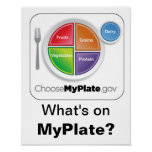 What's on MyPlate? Poster - White