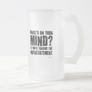 What's on your mind. Unusual gift. Coffee Mugs