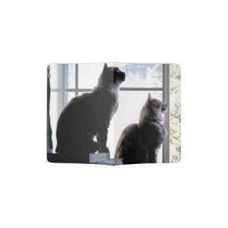 Whats Out There? Curious Cats Kitties Photography Passport Holder