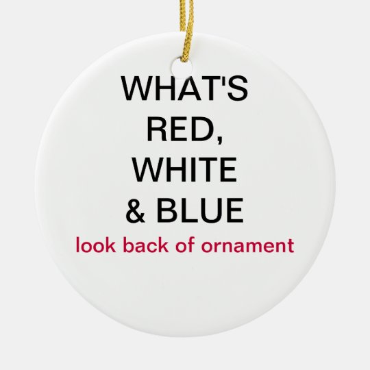 What's Red, White & blue France Flag Ornament