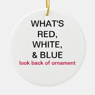 What's Red, White, & Blue UK Flag Ornament