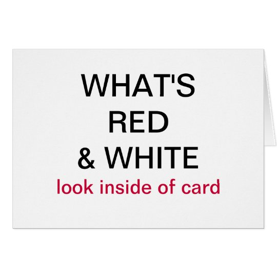 What's Red & White Canada Flag Card