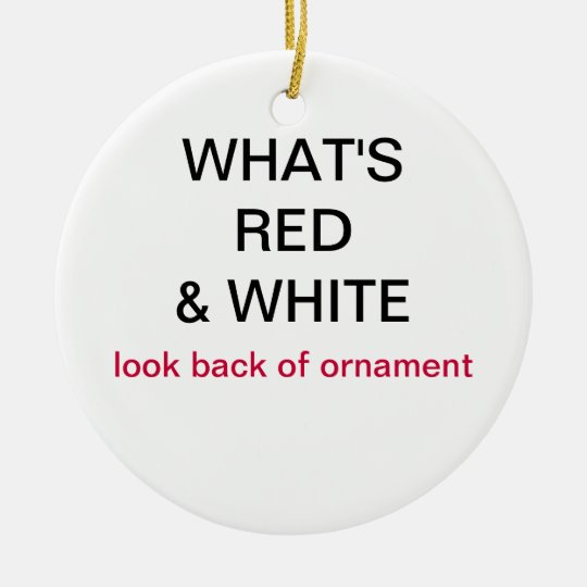 What's Red & White Japan Flag Christmas Ornament