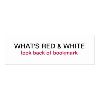 What's Red & White Switzerland Flag Bookmark Mini Business Card
