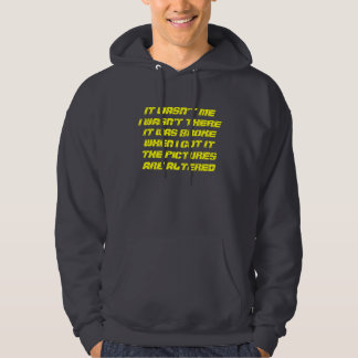 WHATS RIGHT AND EXCUSES HOODED SWEATSHIRT