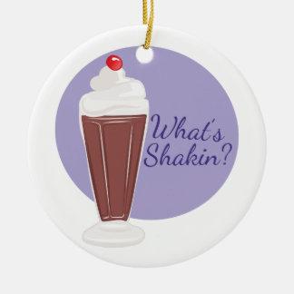 Whats Shakin Ceramic Ornament