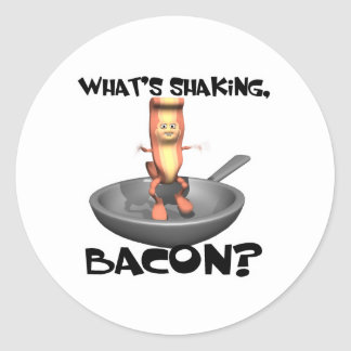 Whats Shaking Bacon Round Stickers